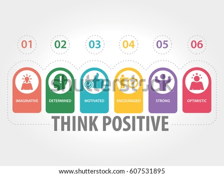 THINK POSITIVE INFOGRAPHIC ICONS