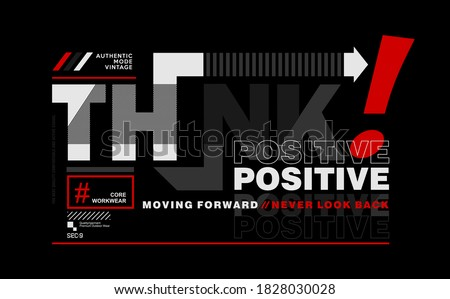 think positive  modern