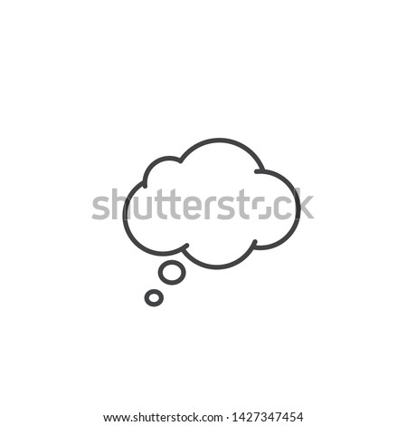Think Speech Bubble line icon, Vector outline isolated sign.