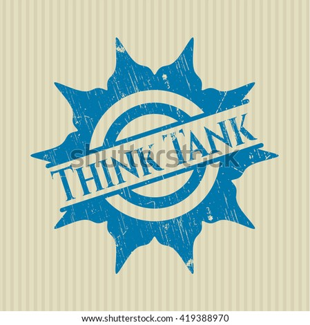 Think Tank rubber stamp with grunge texture