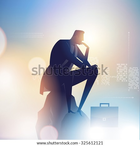 thinker business illustration