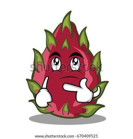 thinking dragon fruit character