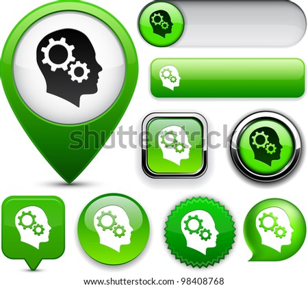 Thinking  green design elements for website or app. Vector eps10.