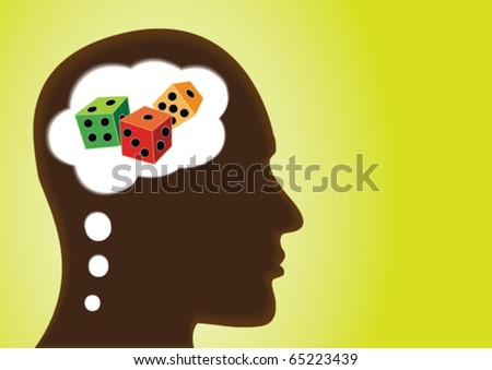 Thinking Head â?? Depicting Risk, Luck, Uncertain, Jackpot and gamble