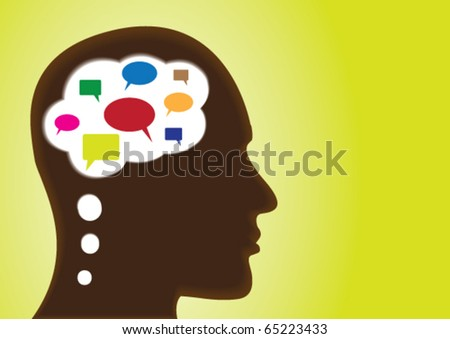 Thinking Head â?? Depicting speech-bubbles, social networking, discussion, chat, observation and many open ended concepts