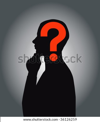 Thinking man, (in the gallery also available jpeg image made from this vector)