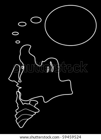 Thinking man vector