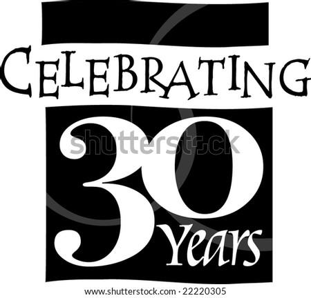 Anniversary Banner Vector Thirty Year Anniversary Banner
