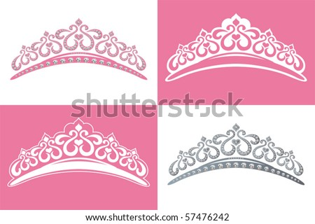 This graphic is 4 tiara image. Illustration vector.