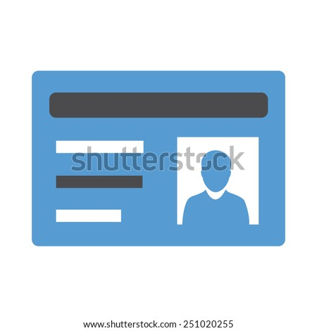 This icon represents a student card and is related to the science and education. It is recommended for use on websites, web applications and mobile applications.