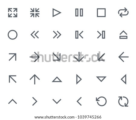 This icon set in bold outline style contains icons like Refresh, Scale Up and Repeat. These vector icons will look great in any user interface design. Pixel perfect at 64x64.