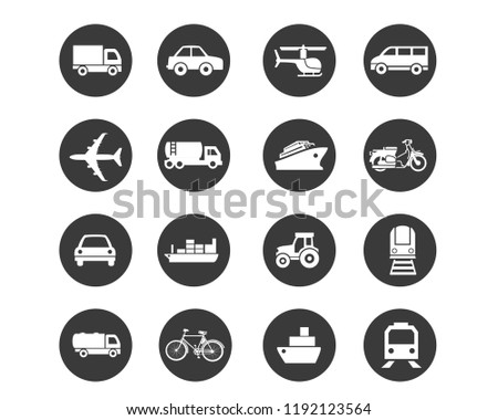 This illustration can be used in any kind of transportation industry. Simple and easily editable icons can be modified according to anyone's demand.