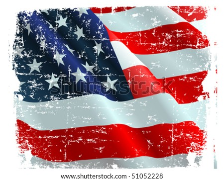This illustration of USA flag can be used for your design.