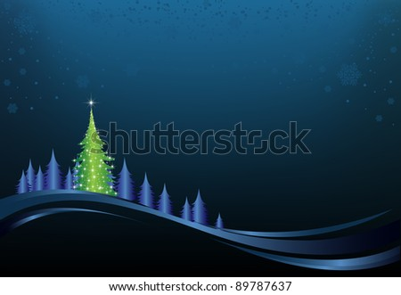 This image is a vector file representing a christmas holiday card, and all the elements can be scaled to any size without loss of resolution.