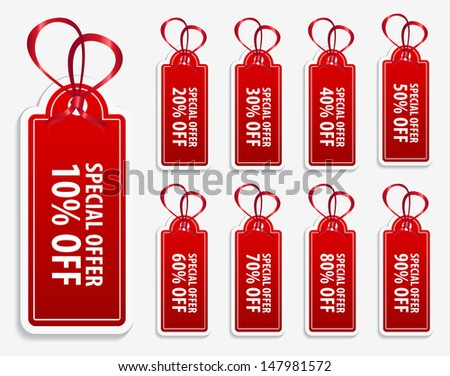 This image is a vector file representing a collection of price tag labels. / Price Tag Label / Price Tag Label