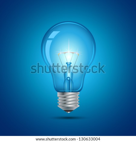 This image is a vector file representing a light bulb. / Light Bulb