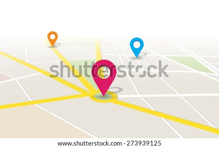 This image is a vector file representing a map location app Vector Design Illustration./Vector Map Location App/Vector Map Location App