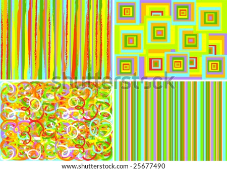 This image is a vector illustration and can be scaled to any size without loss of resolution. four varicolored bright backgrounds