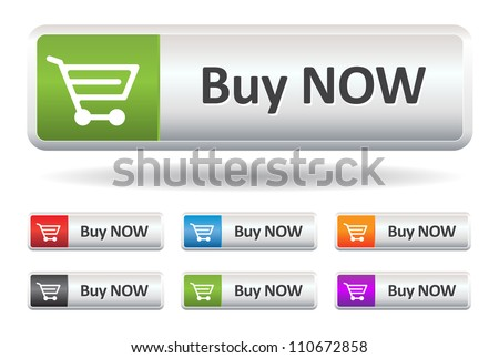 This image is a vector illustration representing a buy button what can be scaled to any size without loss of resolution.