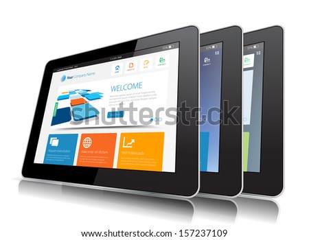 This image represents a Internet Tablet vector. / Internet Tablet / Internet Tablet