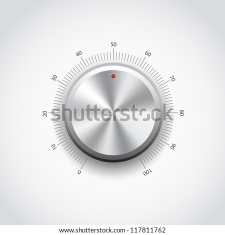 This image represents a metal knob./Metal Button