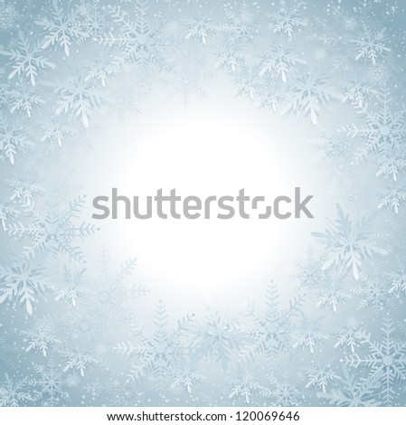 This image represents a Snowflakes Christmas Background. / Snowflakes Christmas Background