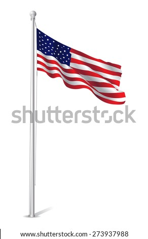 This image represents an USA Flag Vector Design Illustration./USA Flag Vector Design/USA Flag Vector Design