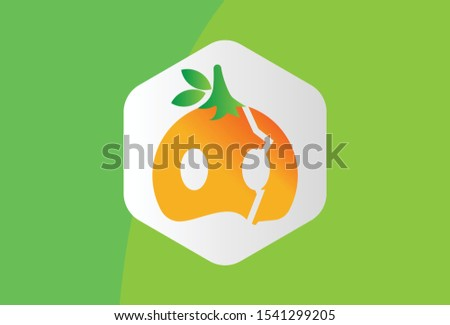 this is a fruit mask logo with