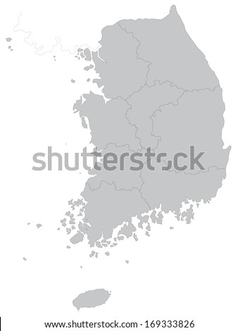 this is a map of south korea a