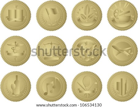 this is a set of 12 unique gold
