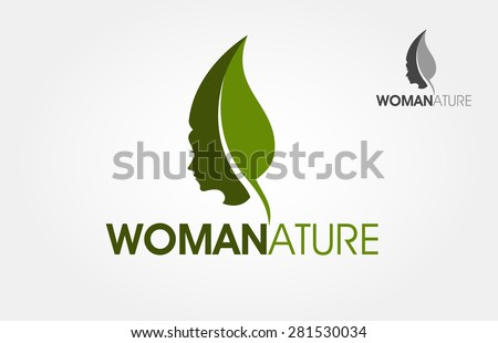 This is a silhouette of a woman head that incorporate with a leaf. This image could be a beauty salon logo or natural spa or other woman activity symbol.