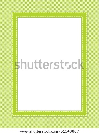 This is a vector illustration of a green frame. Great boarder design. Great for stationary and scrapbooking.