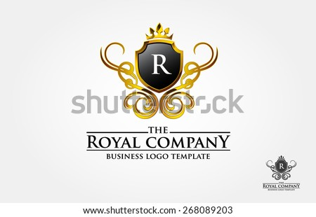 This is a vintage logo with the letter of R, the ornament look like made from gold on 3 D effect. but it's also available in simple print version. We also change the with other initial.