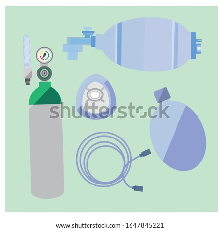 This is bag-vale-mask or Ambu bag or generically as a manual resuscitator or