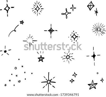 this is handwriting illustration  of stars.