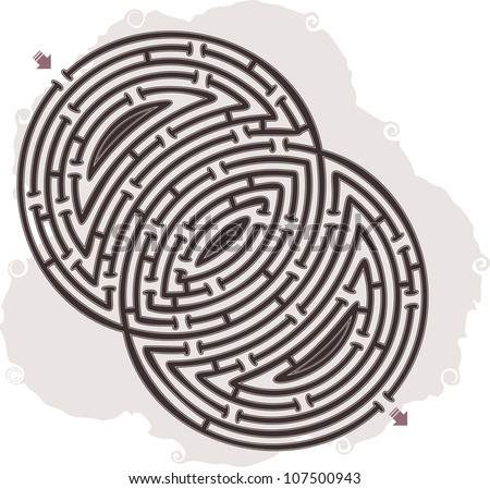 This is illustration of abstract maze
