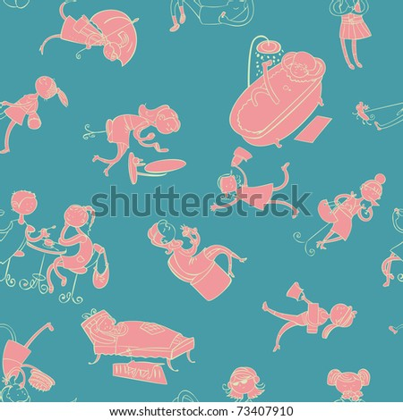 this is seamless ornamental pattern for kids, magazines , web sites, textile industry
