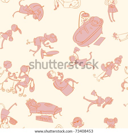 this is seamless ornamental pattern for women, kids, magazines , web sites, textile industry