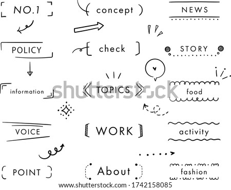 this is set of handwriting frame. Сток-фото ©