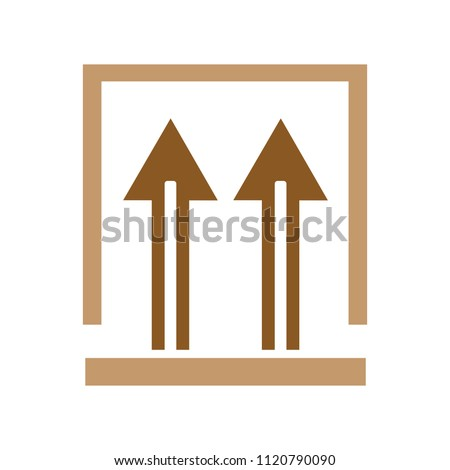 This side up packaging symbol. shipping symbol - cardboard products