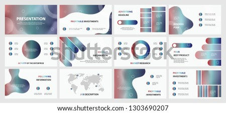 This template is the best as a business presentation, used in marketing and advertising, flyer and banner, the annual report. Grey and black elements on a dark grey background  #1303690207