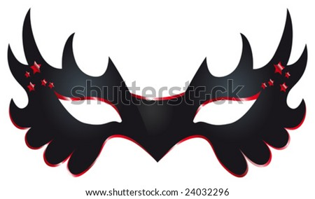 This vector picture represents a carnival mask