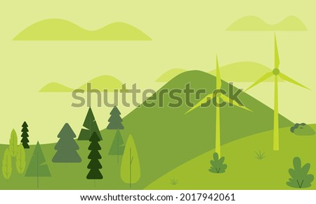 this vector shows a green
