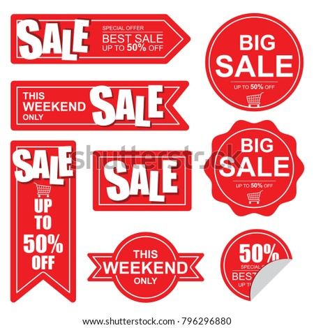 This weekend only Sale banner,  Big and best sale.