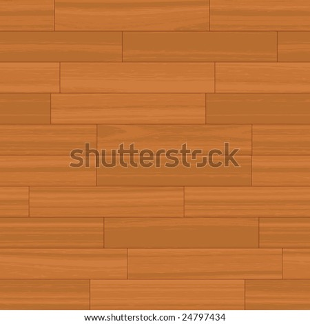 This wood floor pattern tiles seamlessly as a background. - stock vector
