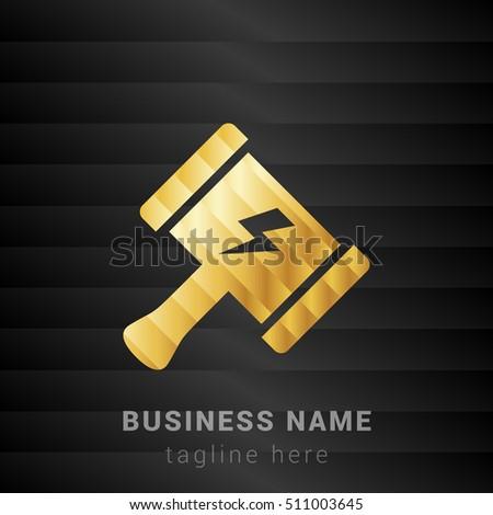 thor hammer gold and black silk