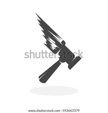 thor hammer icon illustration
