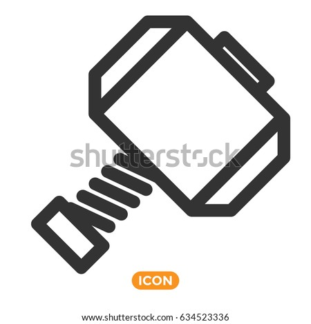 thor hammer vector icon