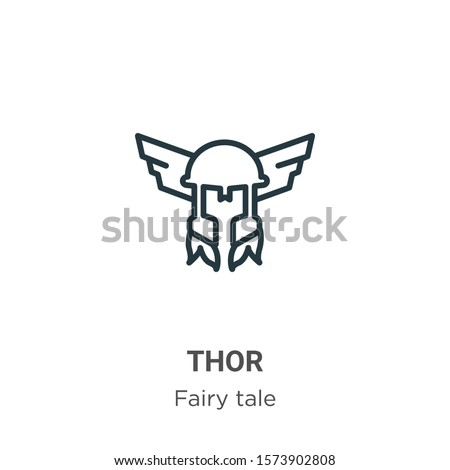 thor outline vector icon thin