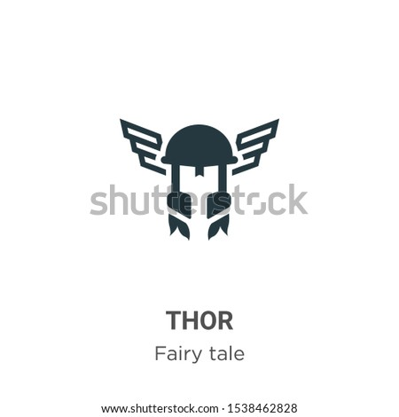 thor vector icon on white